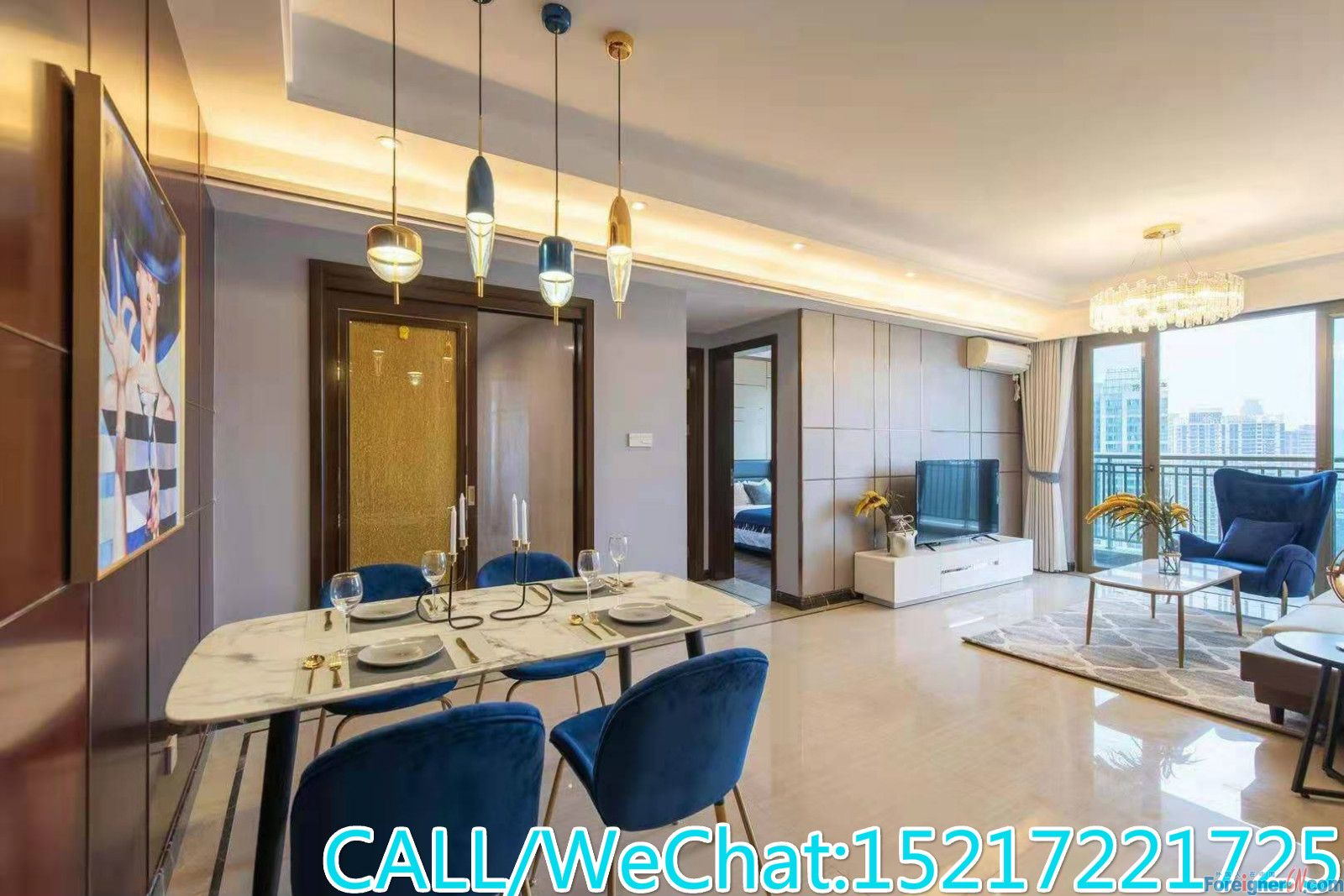 Modern 2brs,fully furnished,brand new and comfortable,high floor,facing ZJ Park,CBD AREA.