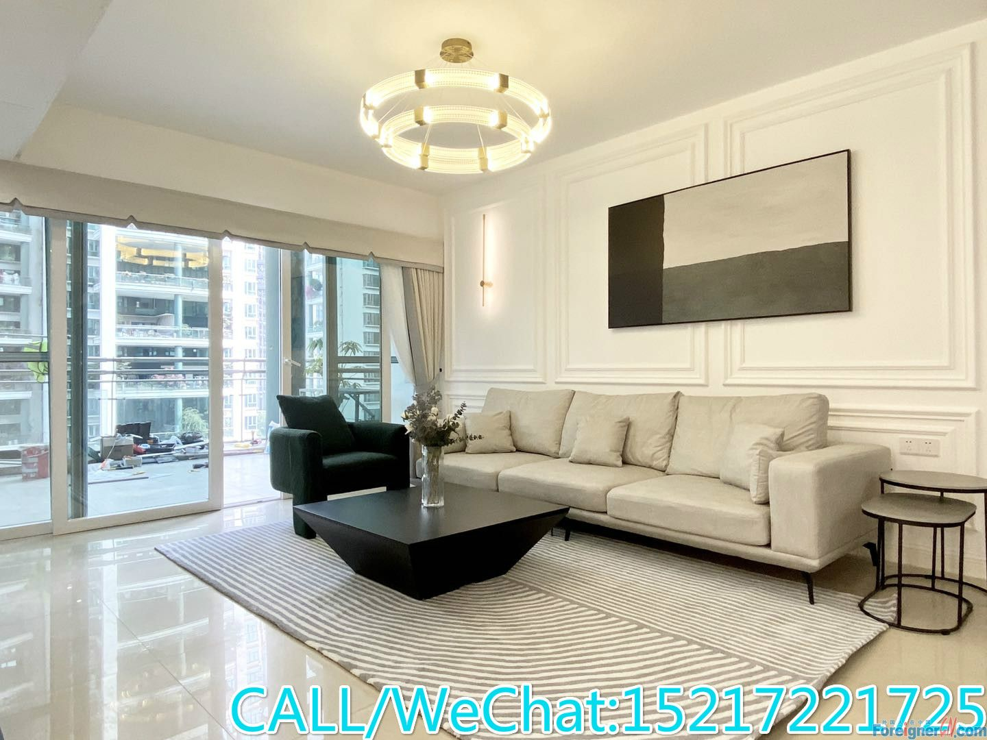 New decoration 3brs avaliable in large compound,Concise style,huge balcony,CBD AREA,convenient for ur life.