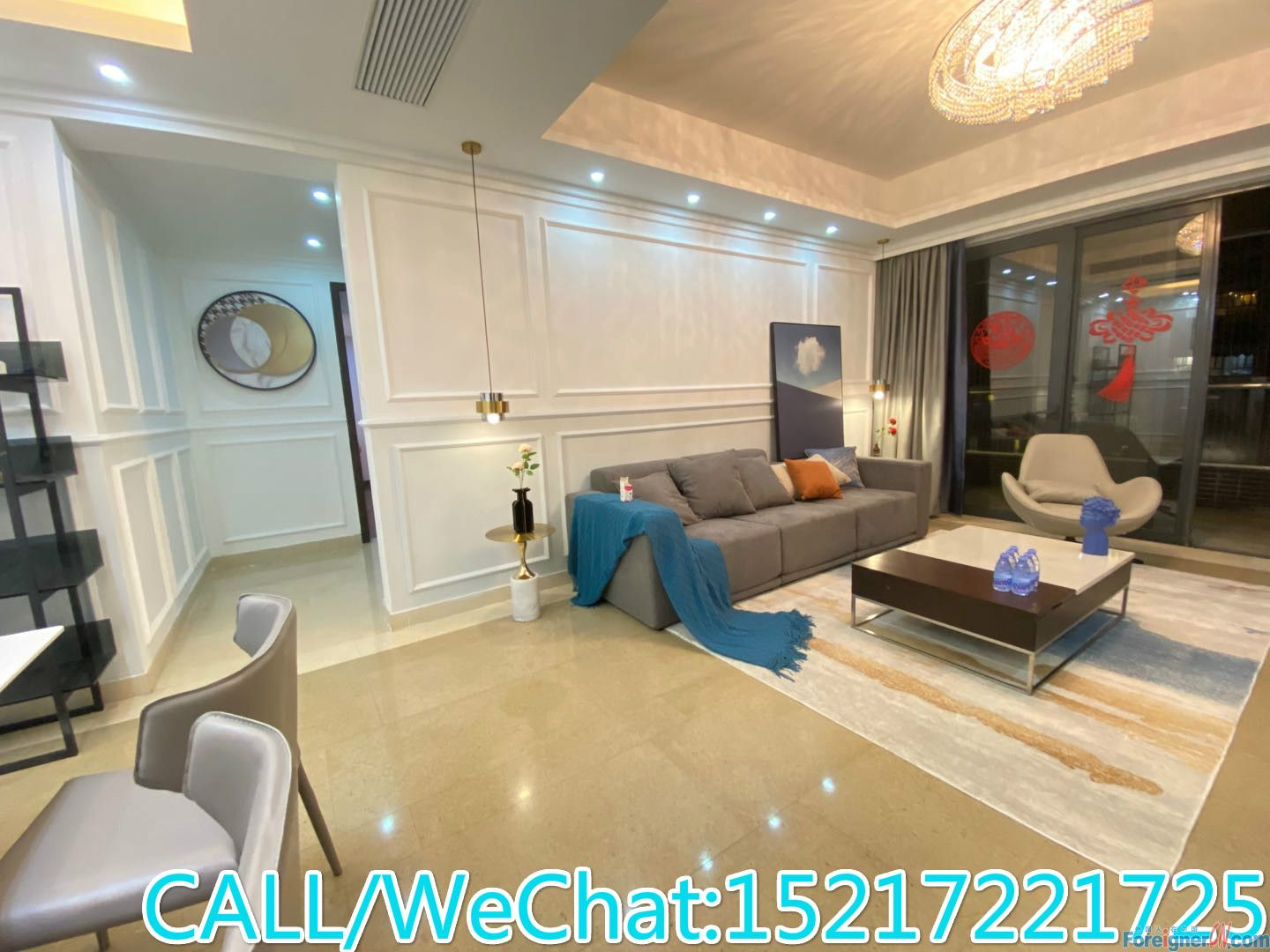 Elegant and Delicate/Large Living Room/High Quality Furnitures/Tidy and Neat/CBD AREA.